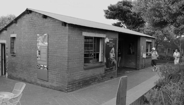 Mandela House – Vi var også innom Winnie og Nelson Mandela sitt hus i Soweto, Vilakazi Street 8115.