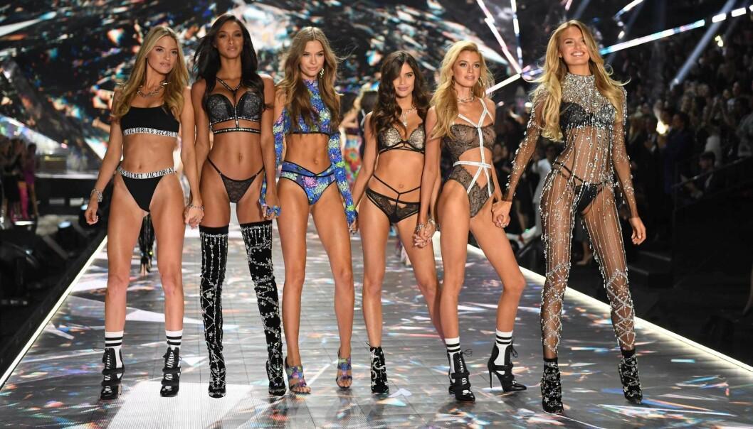 Modellene Martha Hunt, Lais Ribeiro, Josephine Skriver, Sara Sampaio, Stella Maxwell og Romee Strijd var med i Victoria's Secret Fashion Show i New York i 2018. Ifølge en ny studie var gjennomsnittet av modeller dette året enda tynnere enn de som deltok på mindten av 1990-tallet