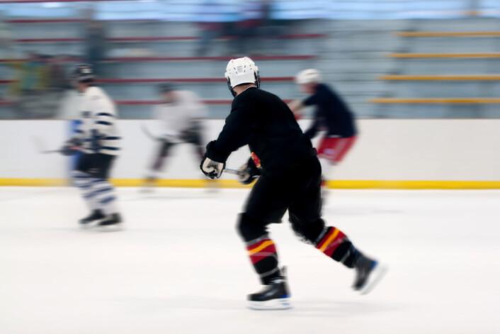 Den eksplosive spillestilen gjør at hockeyspillere kan dra nytte av kreatin-tilskudd. (Illustrasjonsfoto: Colourbox)