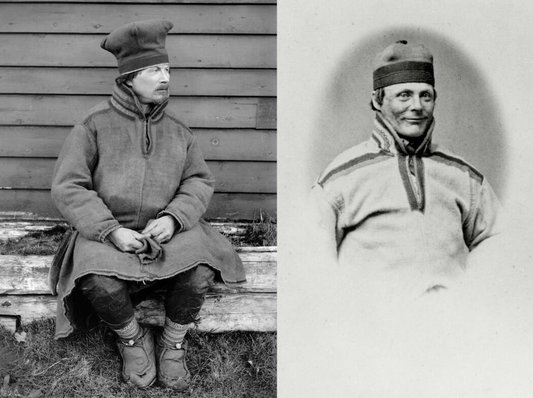 Fra fengselet skrev to av dem som ble straffet for Kautokeino-opprøret om livene sine: Lars Hætta (t.v.) fotografert i 1882, etter at han slapp ut av fengselet, og Anders Bær, avbildet på Akershus straffanstalt rundt 1860.