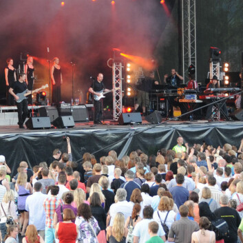 Mange ulike kultur- og opplevelsesbaserte næringer jobber med festivaler som Steinkjerfestivalen. (Foto: Morten Stene)