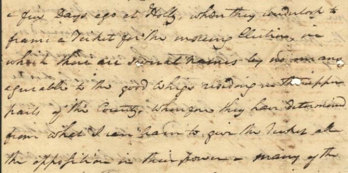 Håndskrevet brev fra 1784. (Foto: (Bilde: Wikimedia Commons))