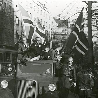 Feiring av befrielsesdagen i Stockholm.