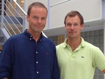 Forsker Erlend Nagelhus og forskerlinjestudent Georg Andreas Gundersen. (Foto: Anna Thoren)