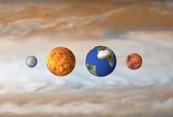 Se hvor stor Jupiter er sammenlignet med jorda