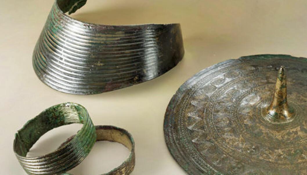 Bronsealderfunn Rægja, Jæren. Terje Tveit/Arkeologisk museum, Universitetet i Stavanger