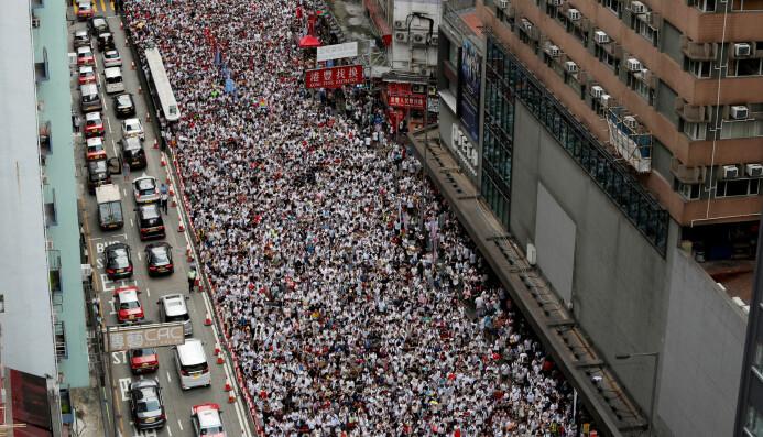 Forskerne anslår at rundt 900 000 voksne deltok i massedemonstrasjonen i Hongkong 9. juni 2019. Også tenåringer demonstrerer, men de er ikke en del av denne studien.