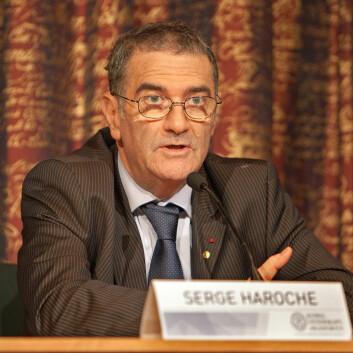 Serge Haroche delte Nobelprisen med amerikanske David J. Wineland. (Foto: Bengt Nyman)