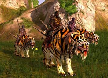 Scene fra Funcoms spill basert på fantasybøkene om barbaren Conan fra 1930-tallet. (Skjermdump: Funcom)