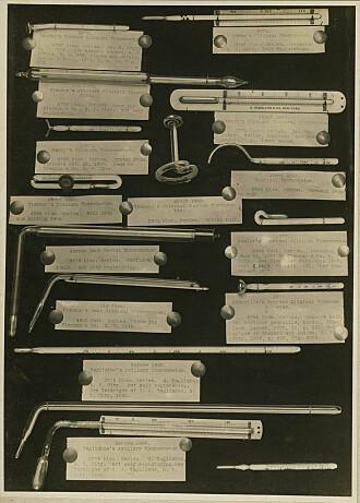 Et utvalg termometre fra 1800-tallet.