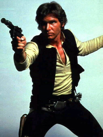 Kaptein Han Solo på Millennium Falcon flyttet seg raskt gjennom verdensrommet i Star Wars-filmene. (Foto: Wikipedia Commons)