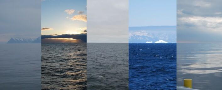Havet rekker å vise flere ansikter i løpet av tre uker. De fire områdene vi har passert gjennom er imidlertid langt mer forskjellige enn det bilder av overflaten kan vise. (Foto: Hanne Østli Jakobsen)