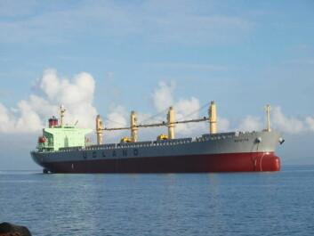 """Mange data er hentet fra Ugland-skipet  MV """"Rosita"""". (Foto: Ugland)"""