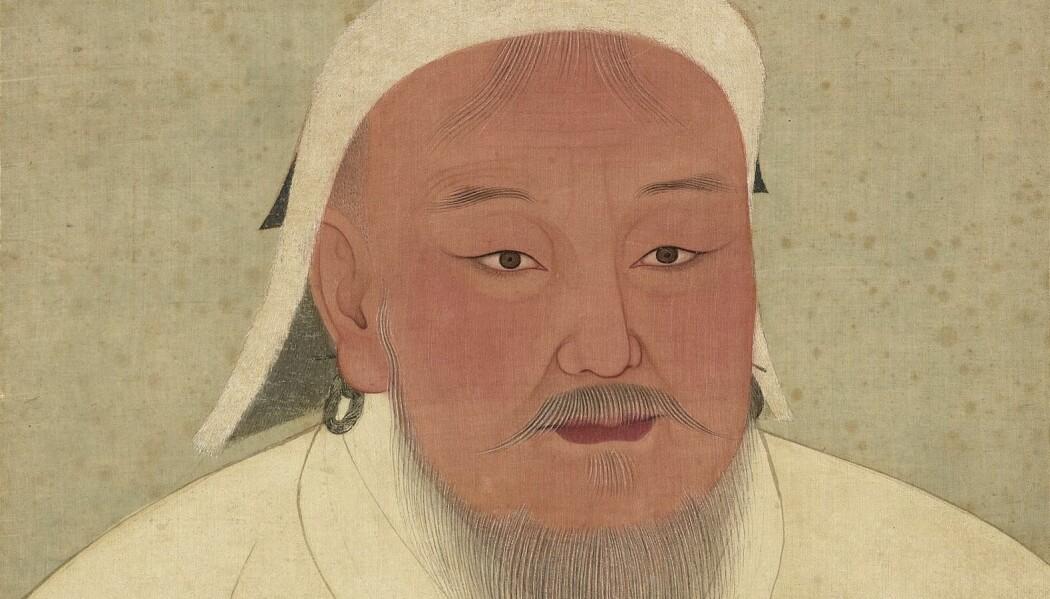 Djengis Khan malt av en anonym hoffmaler i Yuan-dynastiet (1271-1368).