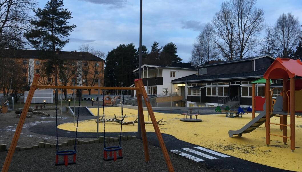 Gummiasfalt preger stadig flere uteområder i norske skoler og barnehager.