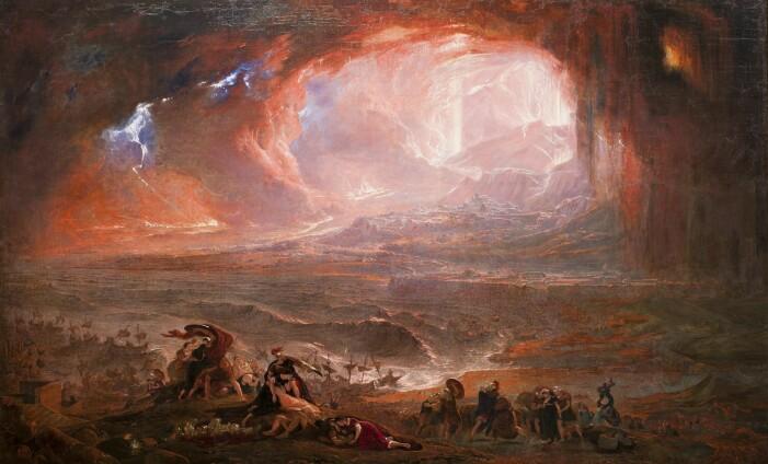 Ødeleggelsen av Herculaneum og Pompeii, slik kunstneren John Martin så det for seg i 1821.