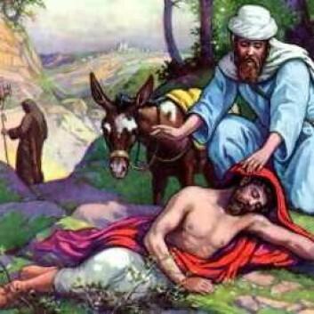 Den barmhjertige samaritan. (Foto: (Illustrasjon: Wikimedia Commons))