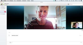 Ellen A. Andreassen Jaatun kan kommunisere med moren via Skype.