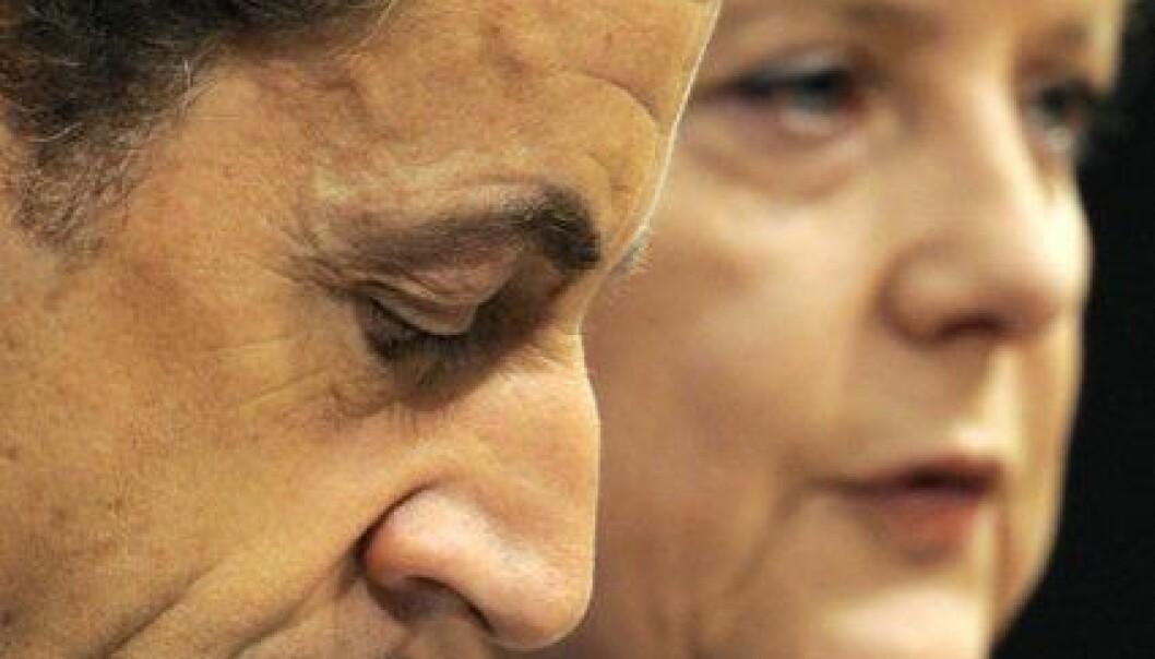 Angela Merkel og Nicolas Sarkozy. www.colourbox.no