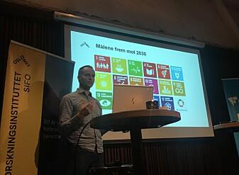 Torvald Tangeland presenterte forskningen sin på frokostmøtet denne uken.