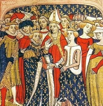 Bryllupet til Maria av Brabant og franske kong Philip III, på slutten av 1300-tallet.