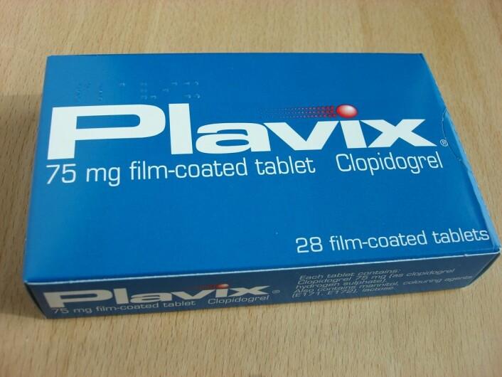 Patentet på Plavix utløp i 2012, så alle farmasøytiske bedrifter kan selge sin egen versjon. Dansk forsker anbefaler at alle fortsetter å ta medisinene sine. Les hvorfor i boksen under artikkelen. (Foto: Wikipedia Commons)