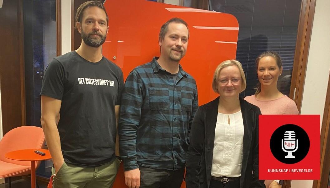 Doktorgradsstipendiat Axel Rosenberg og førsteamanuensis Chris Horbel er gjester i denne episoden av NIH-podden om bærekraftig friluftsliv.