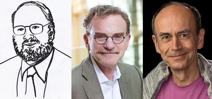 James E. Rothman og Randy W. Schekman er amerikanere, mens Thomas C. Südhof er født i Tyskland. Sammen vant de årets Nobelpris i fysiologi eller medisin. (Foto: Nobelprize.org)