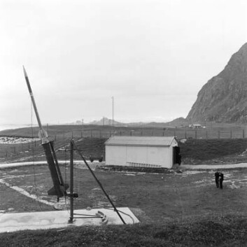 Utsikt mot rakettskytefeltet på Andøya sommeren 1962. (Foto: Andøya Rakettskytefelt)