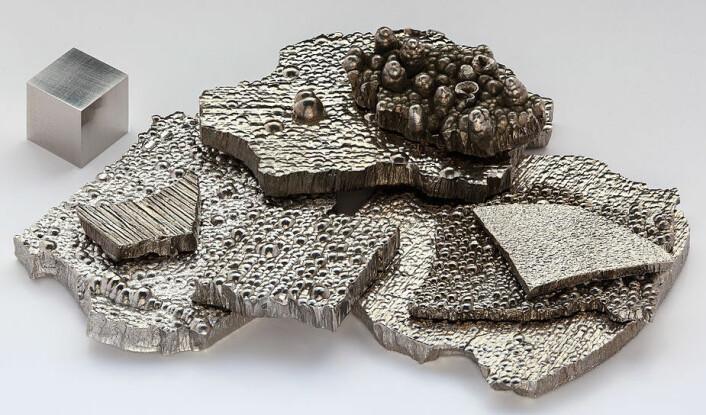 Kobolt brukes i mange litium-ionbatterier. Det er ikke et sjeldent jordmetall, men likevel kostbart, og derfor lønnsomt å gjenvinne. (Foto: Alchemist-hp, Wikimedia Commons.)