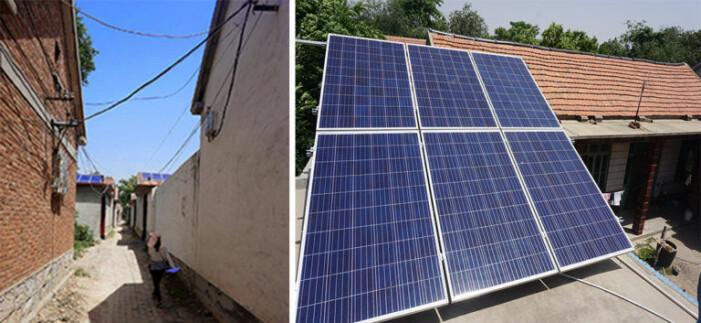 Nå etableres solcellepanel også på landsbygda.