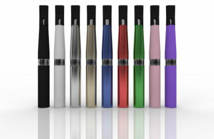 Elektroniske sigaretter. (Illustrasjonsfoto: iStockphoto)