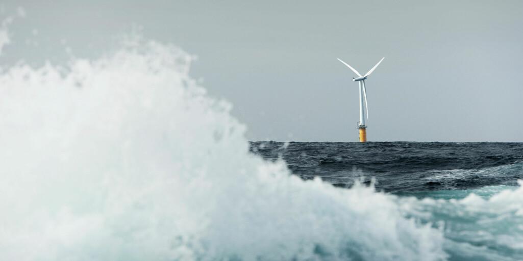 Når vindturbinane vert store, er det viktig å forstå korleis vinden varierer langs rotorblada. Dette er ein turbin designa av Equinor, fotografert vest for Karmøy.