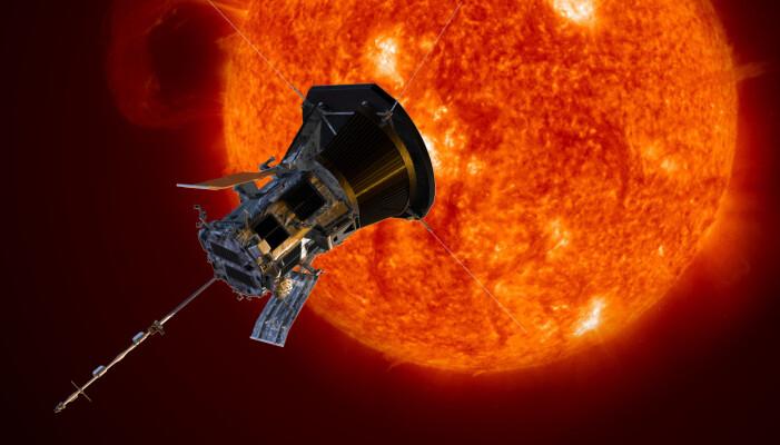 Illustrasjonsbilde av sonden i nærheten av solen