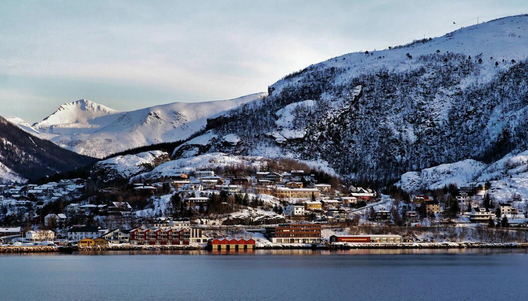 Langt fra alle innbyggerne i Meløy kommune skal og vil bo her i kommunesenteret Ørnes