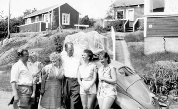 På det familiedrevne pensjonatet Brekkesjø i Brekkestø var det ikke uvanlig at kone og barn ferierte i flere uker, mens far kom på besøk i helgene. (Foto: privat)