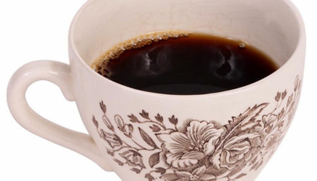 Lindrende kaffe før trening