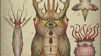 Insekt og blekksprutar para i kunstnars framstilling