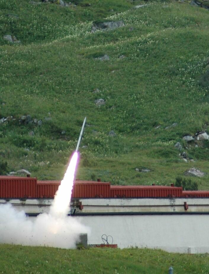 Slik ser en oppskyting fra Andøya ut i dag.