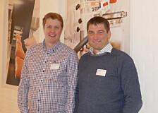 Forsker Nils Kristian Afseth fra Nofima og forskningsdirektør Bjørn Liaseth i BioMega.