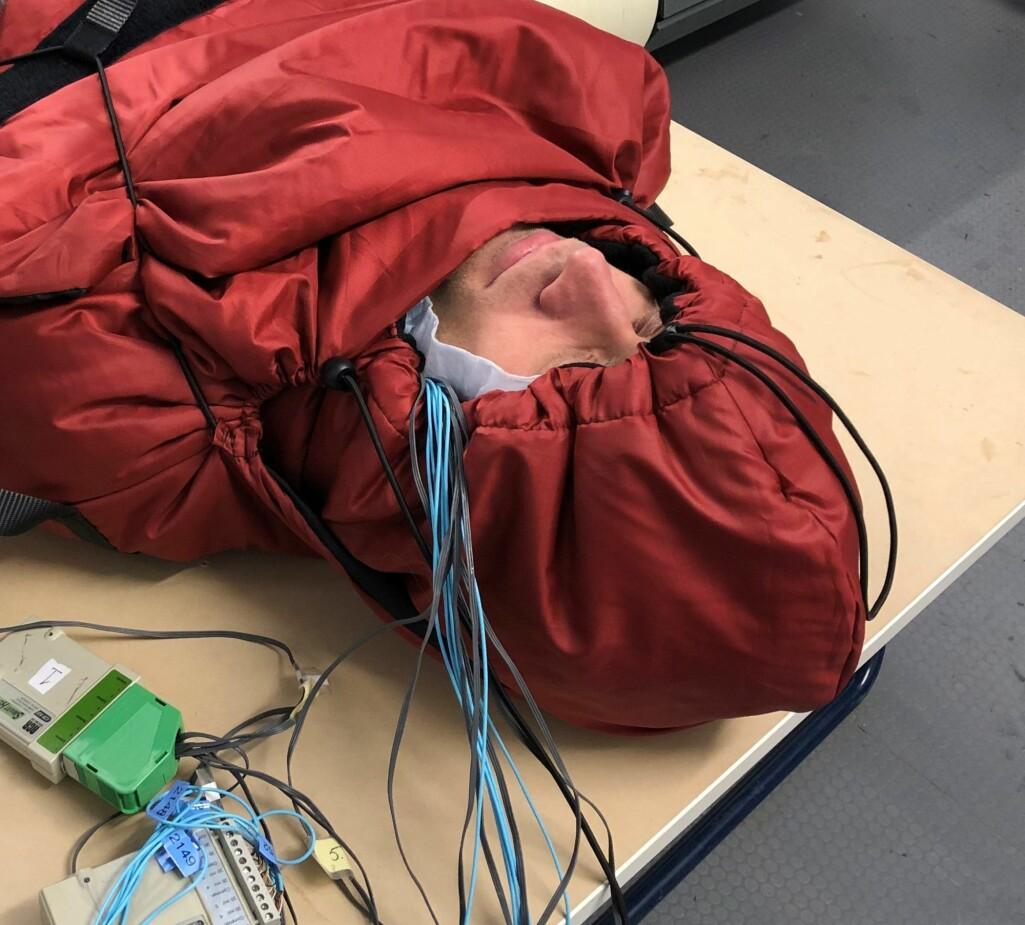 Her pilottestes effekten av den nye varmeposen.