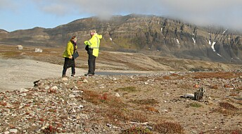 Gammel jakthytte på Svalbard forsvinner