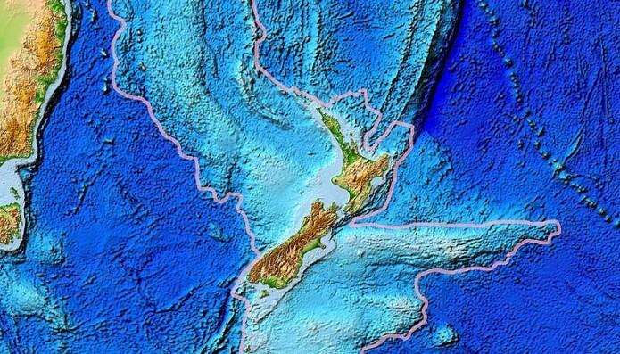 New Zealand ser du midt i bildet.