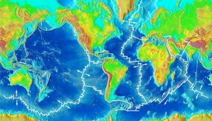 De største fjellkjedene på jorda er under vann.