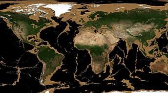 Slik hadde verden sett ut om havene krympet
