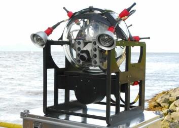 Målet var å lage ein enkel og rimelig robot. Dei skrella ned behova til eit minimum, altså ei glasklokke som toler enormt trykk, utstyrt med sensorar, HD-kamera, led-lys og litiumbatteri. (Foto: Promare)