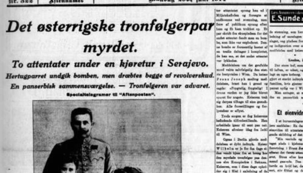 (Faksimile fra Aftenposten)