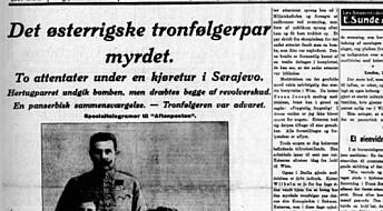 Skuddene i Sarajevo ga gjenlyd i Kristiania