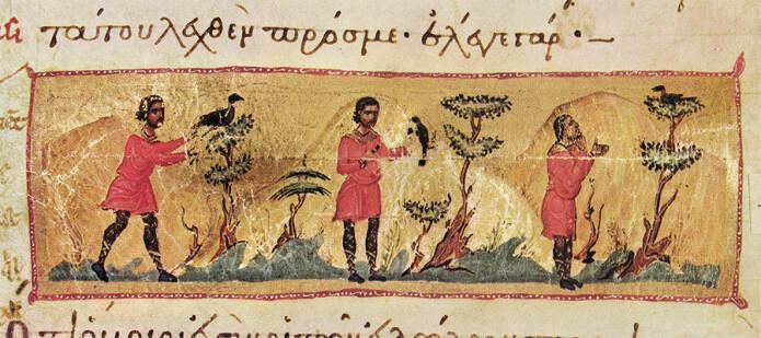 I Barlaams saga får en mann en lærepenge av en nattergal.