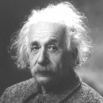 """Albert Einsteins kalte sammenfiltringsteorien """"spooky action at a distance""""."""
